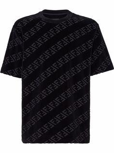 Fendi футболка с логотипом FF