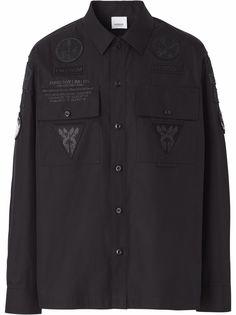 Burberry рубашка с нашивками