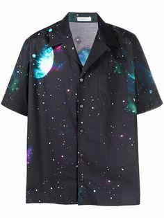 Valentino рубашка с короткими рукавами и графичным принтом
