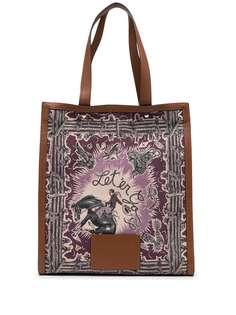 PAUL SMITH сумка-тоут с графичным принтом