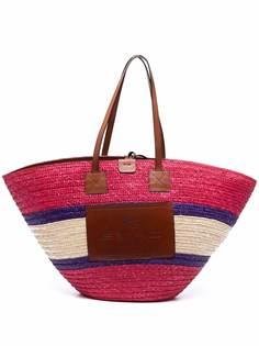 ETRO соломенная пляжная сумка