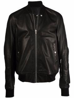 Rick Owens кожаная куртка на молнии