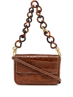 STAUD мини-сумка Tommy Chain с тиснением под кожу крокодила