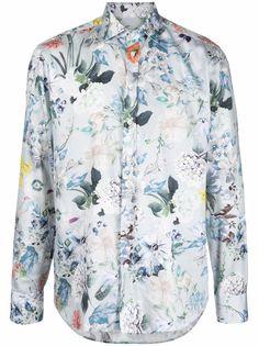 ETRO рубашка с цветочным принтом