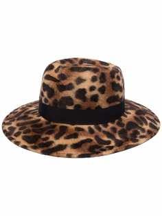 Borsalino шляпа с леопардовым принтом и цепочкой