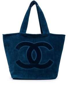Chanel Pre-Owned пляжная сумка и покрывало 2020-х годов с логотипом CC