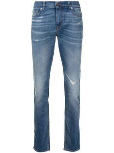 7 For All Mankind джинсы с эффектом потертости