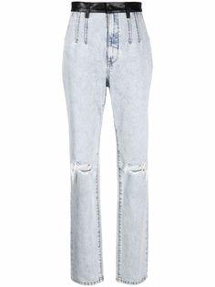 Alexander Wang джинсы из вареного денима с завышенной талией