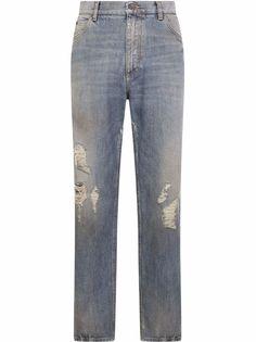 Dolce & Gabbana широкие джинсы с прорезями