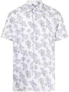 Karl Lagerfeld рубашка с короткими рукавами и цветочным принтом