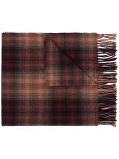 Etudes клетчатый шарф с бахромой