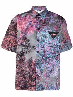 MSGM рубашка с короткими рукавами и цветочным принтом
