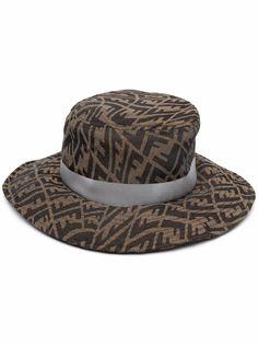 Fendi шляпа с принтом FF Vertigo