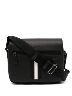 Bally сумка-мессенджер с контрастными полосками и логотипом