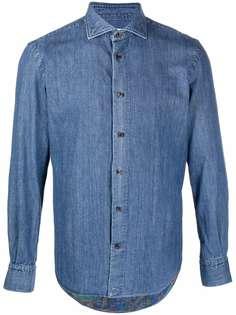 ETRO джинсовая рубашка на пуговицах