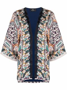 ETRO жакет-кимоно с принтом пейсли