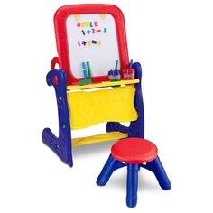 Парта-мольберт Crayola со стульчиком (5029) синий/красный/желтый Grown Up