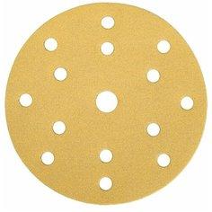 Диск шлифовальный с липучкой на бумажной основе MIRKA Gold 150мм 15 отв P40, 10шт.