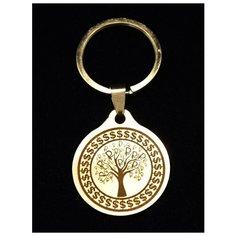 """Брелок талисман оберег амулет на ключи, сумку сувенир, подарок металлический с гравировкой""""Денежное дерево"""" ОптимаБизнес"""