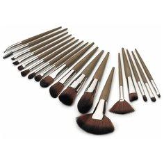 Zoreya Набор кистей для макияжа в коричневом чехле, 18шт ZZ182