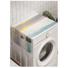 """Органайзер для хранения """"Пенистый берег"""" на стиральную машину, 45x120 см Ambesonne"""