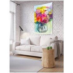 """Панно (постер) с фотопринтом на стену """"Ваза цветов"""", 150x200 см Joy Arty"""