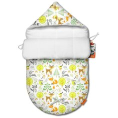 Летний конверт для новорожденного QuQuBaby Сказочный лес