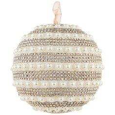 Елочное украшение Lefard шар жемчугом цвет: rose gold d = 18 см (860-1008)