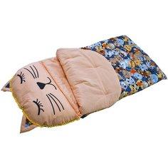 Конверт-мешок ДоММой спальный Кошечка 145 см коричневый