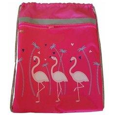№1 School Мешок для обуви Фламинго 1017939, розовый