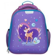 №1 School Ранец Basic Олененок (1145915), фиолетовый