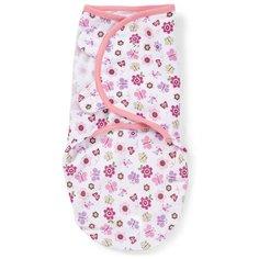 Конверт на липучке Swaddleme (розовые бабочки), размер S/M Summer Infant