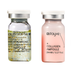 Stayve Сыворотка для лица под дермапен / мезороллер, набор 2 ампулы х 8 мл, гиалуроновая кислота + коллаген
