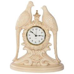 Часы настольные BOGACHO Павлины Айвори