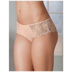 Dimanche lingerie Трусы Lirica Панти с кружевной отделкой, размер 6, пудра