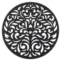 Подстановочная салфетка Доляна Узоры темно-серый