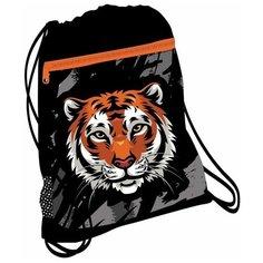 Мешок-рюкзак для обуви Belmil Wild Tiger, с вент. сеткой и объем. карм. на молн., 35х43 см