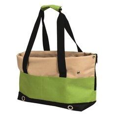 Переноска-сумка SALTA 40х22х28см бежевая/зеленая Nobby