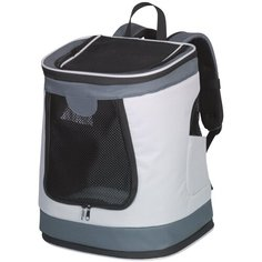Переноска-рюкзак PLATA 34х30х43см серая Nobby