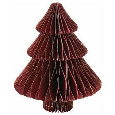 Бумажная настольная елка АРТ ПАПЬЕ, бордовая, 23 см., Boltze 1017181-boltze