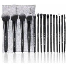 Набор кистей для макияжа ZOREYA серый 15 шт.