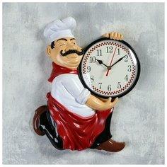 """Часы настенные, серия: Кухня, """"Повар усач"""", 24х30 см 1588314 Сима ленд"""