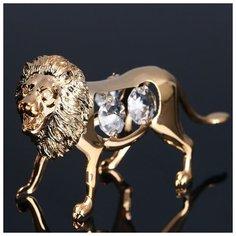 Сувенир «Лев», 11х3х6см, с кристаллами Сваровски 4864883 Сима ленд