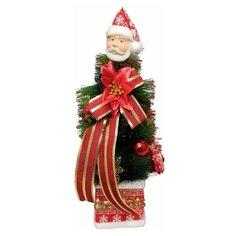 """Новогодняя елка в горшке """"Дед Мороз и пуансетия"""", цвет красный, золотистый, 45х15 см Diligence Party DP-TR-13"""