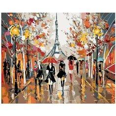 Прогулка по Парижу Раскраска картина по номерам на холсте