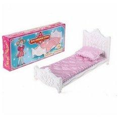Набор мебели для спальни Кровать Сонечка с постельным бельем (Для любимой куклы) 35,5х5х16,5 см. Форма