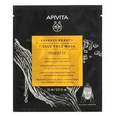 Apivita/Апивита экспресс бьюти маска тканевая для лица укрепляющая и подтягивающая с мастикой