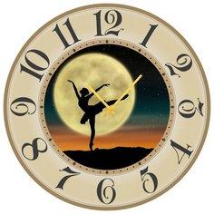 SvS Настенные часы SvS 3502153 Девушка танцующая при луне СВС