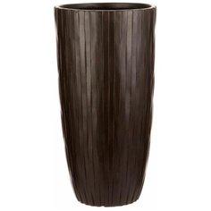 Напольный горшок для цветов Идеалист Lite Буллет файберстоун коричневый Д32 В61.5 см 49 л ROWV32-AB Idealist