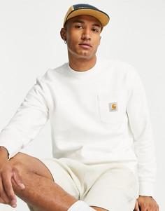 Oversized-свитшот кремового цвета с карманом Carhartt WIP-Белый